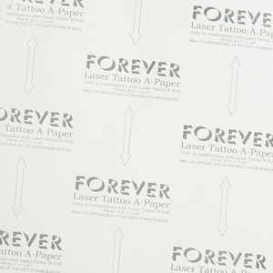 "FOREVER LASER TATTOO PAPER -8.27"" X 11.69""(A4)-100ct A&B"