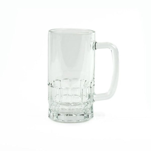 Clear Glass Sublimation Beer Stein - 16oz.