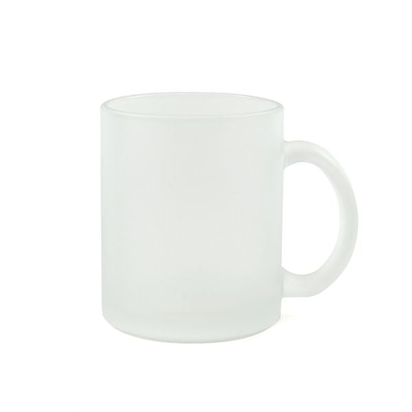 Frosted Glass Sublimation Mug with Handle - 11oz.