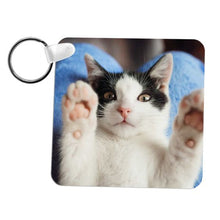 "Load image into Gallery viewer, Square FRP Plastic Two Sided Sublimation Keychain - 2.25"" x 2.25"""