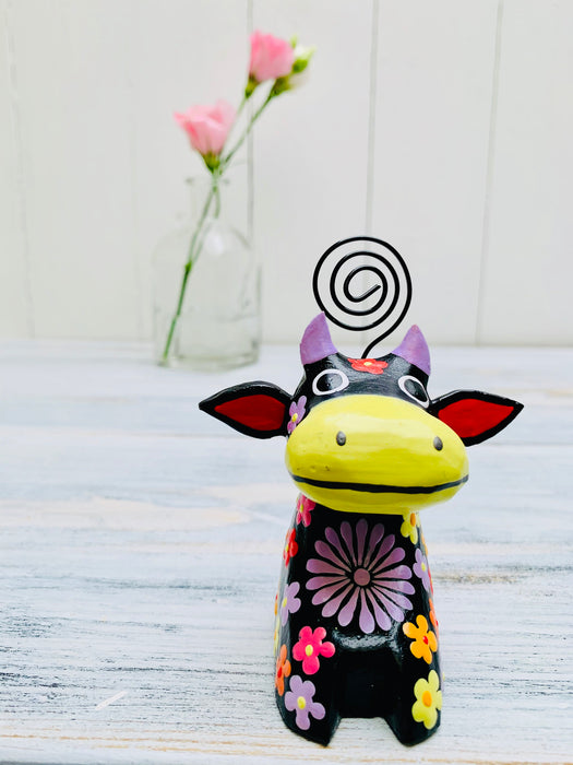 Flower Cow - BLACK