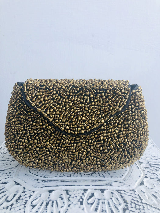 Petra Clutch - Gold Metallic