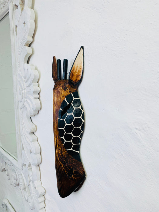 Wood Mask - Giraffe Small