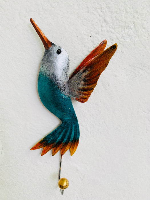 Humming Bird Hook - Green