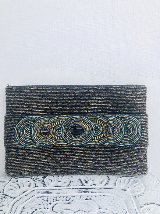 Bodrum Clutch - Paua Metallic