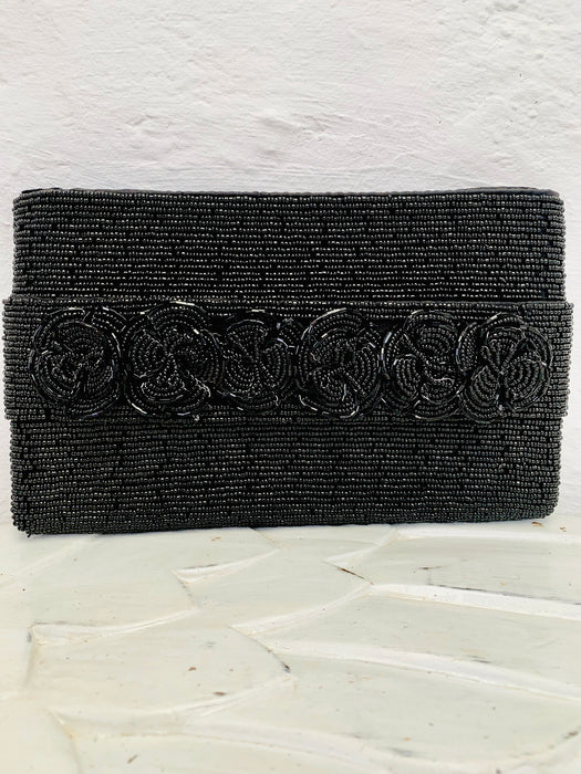 Rose Clutch - Black