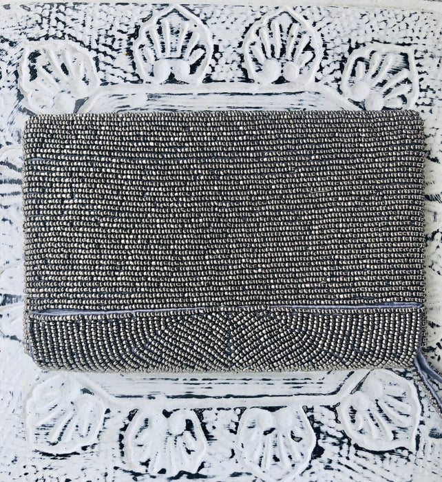 Deco Clutch - Silver Metallic