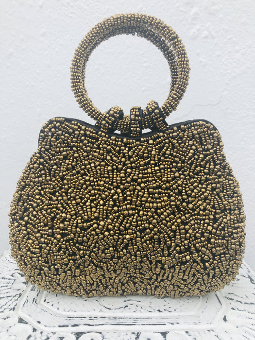 Venetia Handbag - Gold Metallic