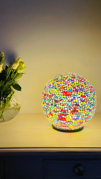 Mosaic Ball Lamp - Rainbow