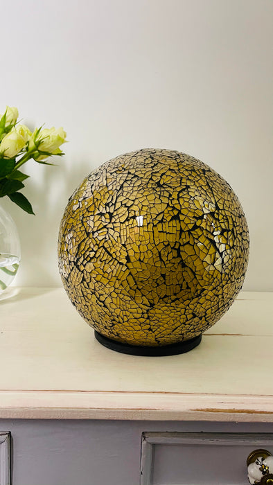 Mosaic Ball Lamp - Gold