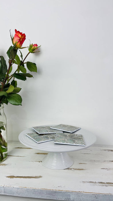 Shell Coasters  - White Flower