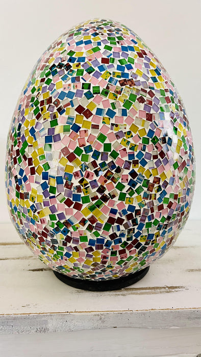 Mosaic Egg Lamp Large- Rainbow