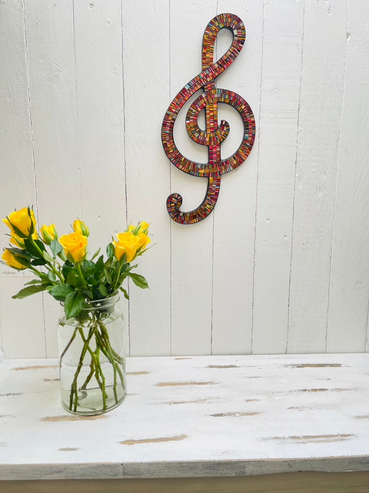 Mosaic Treble Clef - Electric