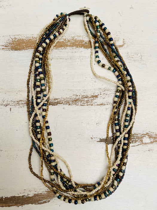 Cassia Necklace - Metallic Mix