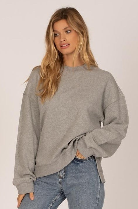 Low Key Fleece Pullover - Grey Heather - et seq fashion