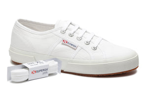 Superga White Laces