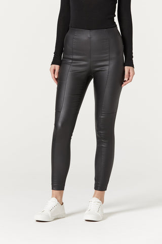 Waxed Legging - Black - et seq fashion
