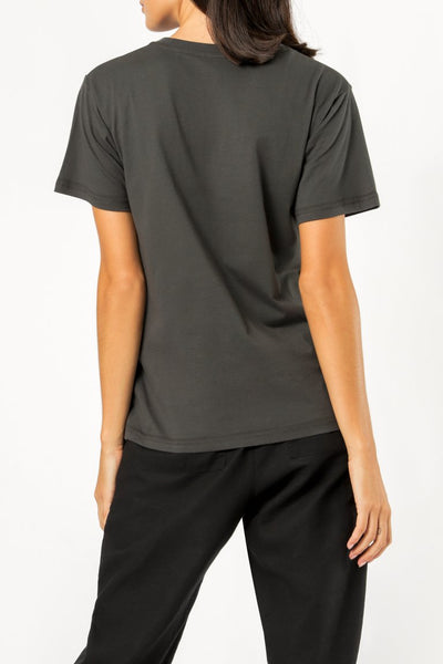 Nude Lucy Slogan Tee - Washed Black