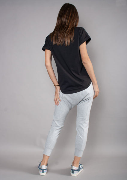 The Ponte Dropcrotch Pant - Grey Marle - et seq fashion