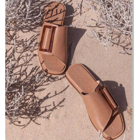 Carina Slide - Tan - et seq fashion