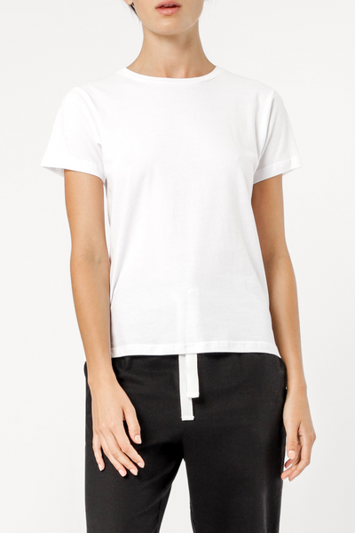 Harper Basic Crew Neck Tee - White - et seq fashion