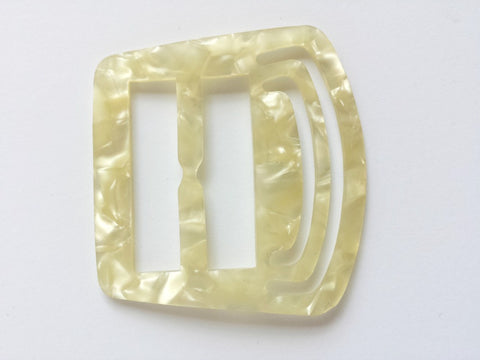 Vintage celluloid square buckle - Accessories Of Old