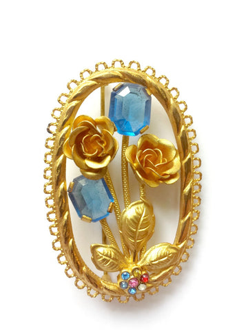 1950's Floral brooch - SOLD - Accessories Of Old