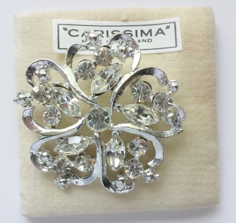 Clear rhinestone brooch - Accessories Of Old