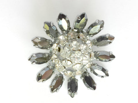 1940s rhinestone brooch - SOLD - Accessories Of Old