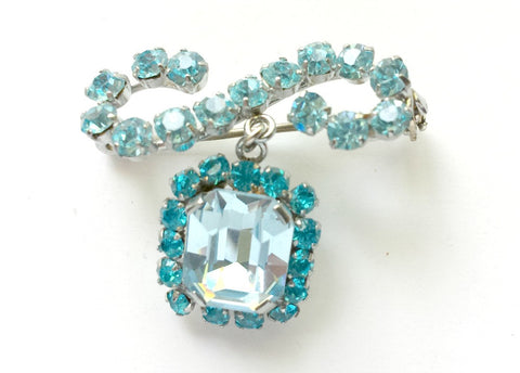 Crystal and rhinestone brooch - SOLD - Accessories Of Old