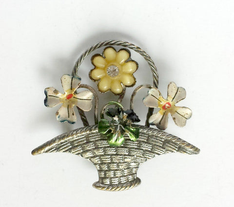 Basket brooch - THIS ITEM IS SOLD OUT - Accessories Of Old