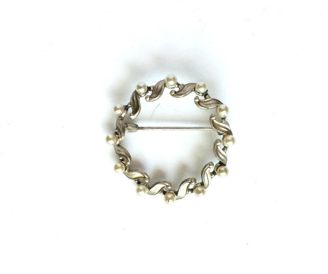 Circular marcazite brooch - Accessories Of Old