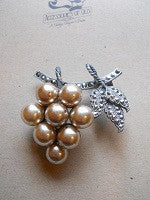 Marcazite brooch with faux pearl beads - SOLD