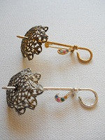 Umbrella shaped brooch