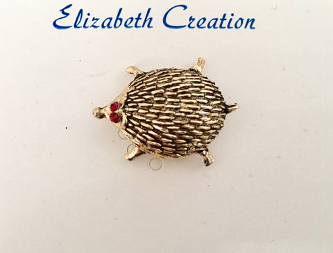 Vintage late 1960's British hedgehog brooch