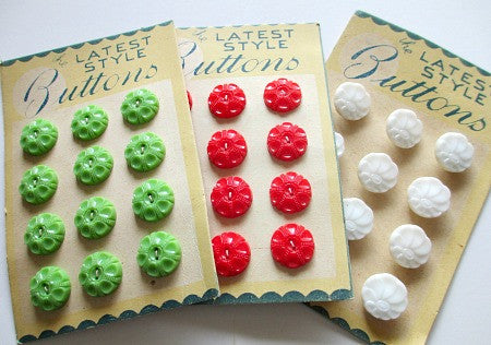 Pack of Vintage button cards - Accessories Of Old