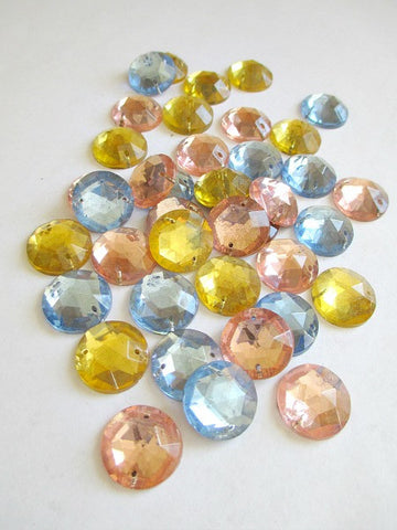 Vintage 15mm round flatbacks - (sold in bag of 866 for $86.00 - one bag only) - Accessories Of Old
