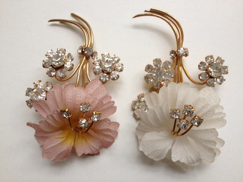 Celluloid Floral Brooch - Accessories Of Old