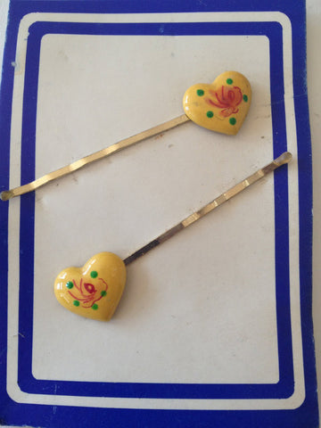 Heart Bobby Clips - Accessories Of Old