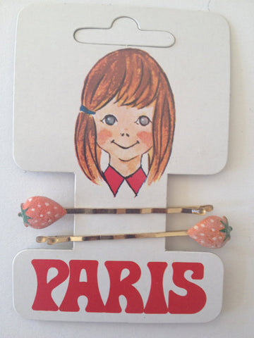 Strawberry Bobby Clips - Accessories Of Old
