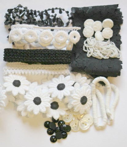 White and black crafting kit