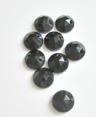 Vintage 8mm round black flatback (  one lot of 5800)