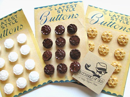 Pack of button cards - Accessories Of Old