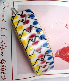 Ceramic hand painted barrette- SORRY THIS ITEM IS SOLD OUT - Accessories Of Old