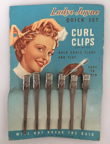 Vintage 50s Ladye Jayne pin curl clips - Accessories Of Old