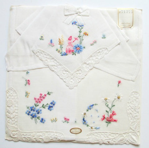 1940s Swiss made hankies - Accessories Of Old