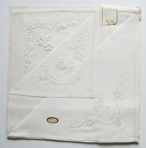 1940s vintage cotton hankies - Accessories Of Old