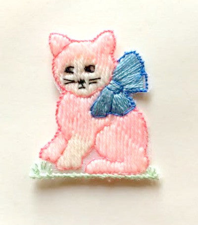 1950's kitten with bow motif - Accessories Of Old