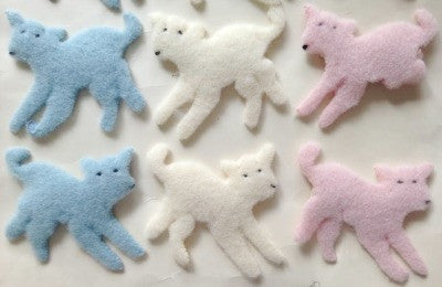 1950s Fluffy lamb applique motif - Accessories Of Old
