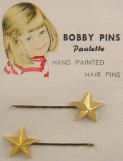 Vintage star shaped bobby pins